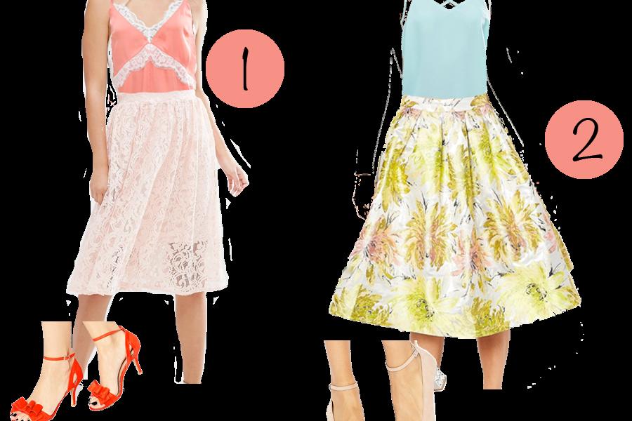 4 bryllupsoutfits med nederdel