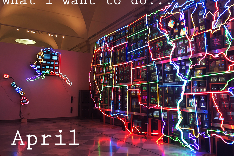 I april vil jeg…